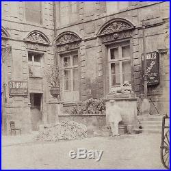 1898 Photo of PARIS France by Eugène ATGET Hôtel Sully VINTAGE Albumen Print