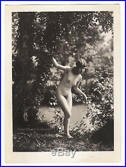 1920s Original Marcel Meys Female Nude Girl Woman Vintage Silver Gelatin Photo