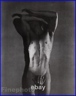 1936/81 Vintage GEORGE PLATT LYNES Surreal MALE NUDE Man Duotone Photo Art 16x20