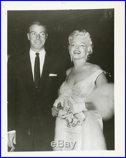 1950's Vintage Photograph MARILYN MONROE JOE DiMAGGIO Seven Year Itch Premiere