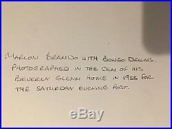 1955 Marlon Brando Orig Vintage Photog Signed 11x14 B&w Gelatin Portrait Photo