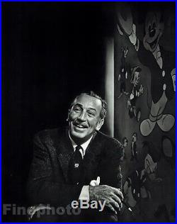 1956 Vintage 16x20 WALT DISNEY Cartoon Animation Movie Mickey Mouse YOUSUF KARSH