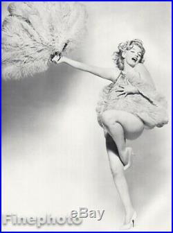 1958 Marilyn Monroe By Richard Avedon Actress Nude w Feathers Vintage Photo Art
