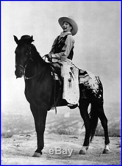 1987 HERB RITTS 20X16 Vintage Photo Gravure PEE-WEE HERMAN Comedian Cowboy