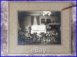 3 Vtg 20s 30s Child Funeral Photos Casket Coffin Post Mortem 13 7/8 X 11 7/8