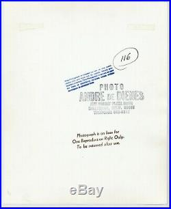 ANDRE DE DIENES ORIGINAL OVER-SIZED ART PHOTO 10 1/2 X 13 FIGURE VF/NM c1960