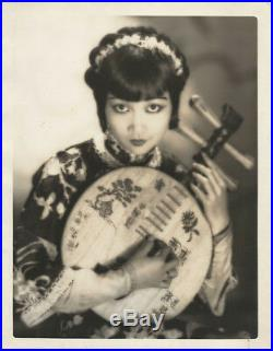 ANNA MAY WONG / MR. WU (1927) Vtg orig 10x13 dbl wt portrait by Clarence S. Bull