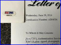 Alec Guiness Star Wars Obi Wan Kenobi Signed 8x10 Vintage B&W Photo LOA PSA