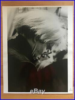 Andy Warhol vintage original photograph by Peter Arnell 16x20 RARE B&W