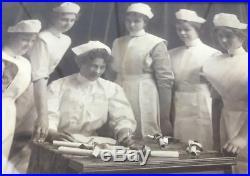 Antique Photograph Nurse Nursing School Graduation Vtg Early 1900's Teacher