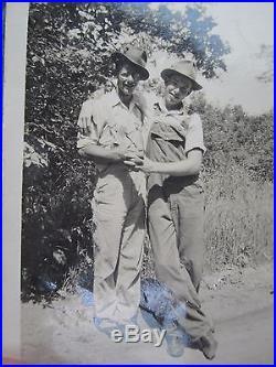 Antique Vintage Elwood & Howard Chums Bff Gay Int Tlc Hands Embrace Fine Photo
