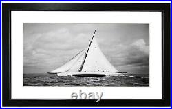 Beken of Cowes Framed Photograph of the Sailing Yacht Cambria, 1930