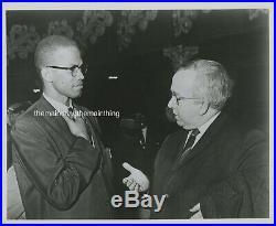 Black African American CIVIL Rights Malcolm X Original Vintage Photo 8x10