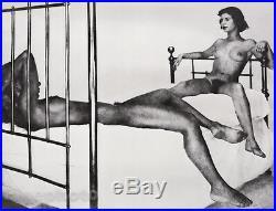 C. 1951/81 Vintage FEMALE NUDE & Man Duotone Photo Art 16x20 GEORGE PLATT LYNES