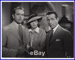 CASABLANCA (1942) Vntg orig 8x10 print still ft. Henreid, Bergman, Bogart CLIMAX