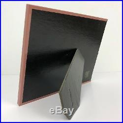 Framed Allan I Teger Color Photo Of Original Hand Painted Black & White SIGNED