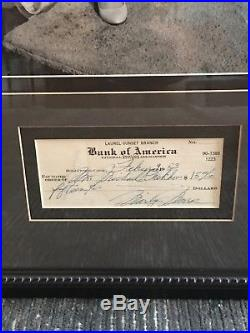 Gorgeous Marilyn Monroe Signed Check with Vintage B&W Photo Framed Display JSA