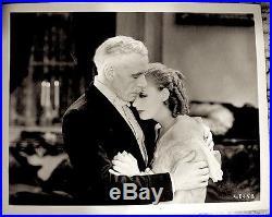 Greta Garbo Lewis Stone Press Photo 1930 Romance Promo Proof Date Stamped VTG