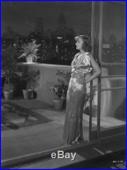 Greta Garbo posing New York balcony b/w art deco vintage ORIGINAL 8x10 negative