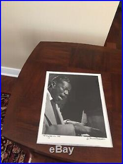 Herman LEONARD Nat King Cole, NYC, 1949 / Silver Print / Ptd 2004 / SIGNED