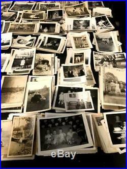 Huge Lot of 1000+ Vintage B&W SNAPSHOT PHOTOGRAPHS / PHOTO's, circa 1900-1965