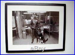 John F. Conn Signed Original NYC Subway Photo 1980's Vintage Framed
