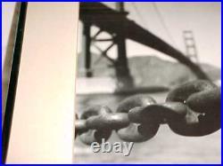 Large Vintage 40s-60s Black White Photograph Golden Gate Bridge San Francisco Ca
