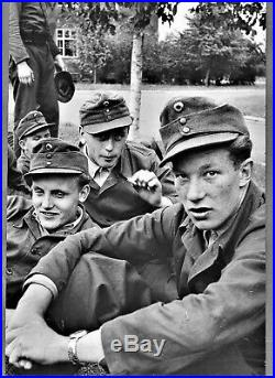 Large vintage Magnum photo foto by Erich Lessing army soldiers Germany 1960