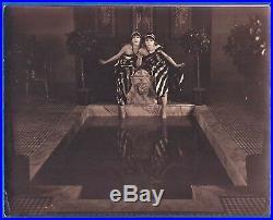 Large vintage photo Oriental sexy harem girls Art Deco scenery France ca 1920 p