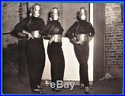 Large vintage photo exotic busty Cuban Marques sisters robot burlesque BDSM 1955