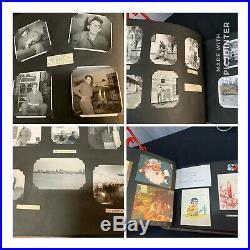 Lot 600+ VTG ANTIQUE photos Snapshots Albums B&W Men Military Women Sports Cards