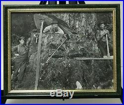 Lot Of 12 Vintage Logging Photos, All Framed, A Rare Find