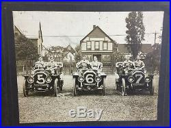 Lot of 3 1908 Peerless Race Car Original Photos