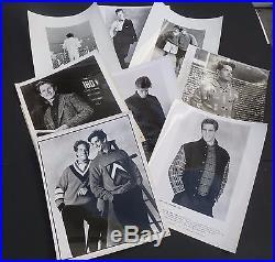 Lot of 55 vtg 1980s men's press promo model fashion designer photos 8x10