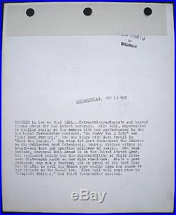 Lucille Ball Press Keybook Photo 1943 Sniped Stamped MGM Willinger VTG Original
