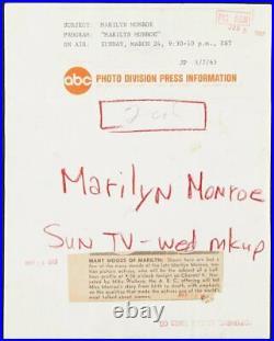 MARILYN MONROE Original Vintage ABC Special Photo