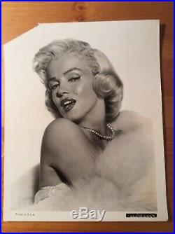 MARILYN MONROE Original Vintage Glamour portrait circa 1953