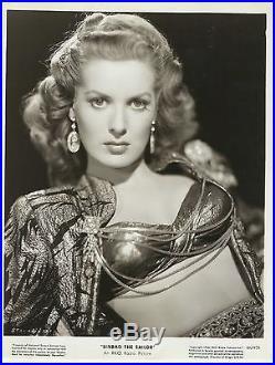 MAUREEN O'HARA in Sinbad the Sailor Original Vintage Photograph 1946 PORTRAIT