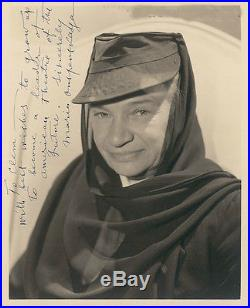 Maria Ouspenskaya Vintage Autographed Photo Aka Wolfman Gypsy