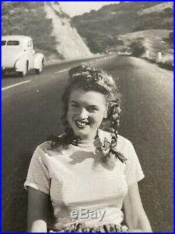 Marilyn Monroe 1945 Rare Highway Vintage Dblwt Photograph By Andre De Dienes