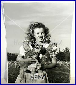 Marilyn Monroe Rare Original Vintage 1950's Photo ANDRE DE DIENES Lamb