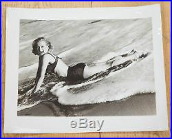Marilyn Monroe Superb Vintage Original 1950 Photograph Sexy Pose Swimsuit