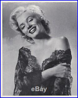 Marilyn Monroe Vintage original 1950s Glamour Portrait Photo 8 x 10