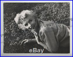 Marilyn Monroe vintage 7x9 photo stamped Baron