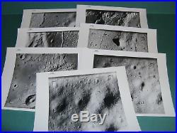 NASA 1965 RANGER IX (7) PHOTOS VINTAGE BLACK & WHITE 8x10 PHOTO APOLLO
