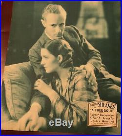 NORMA SHEARER LESLIE HOWARD vintage 1931 ORIGINAL MGM JUMBO LOBBY CARD FREE SOUL