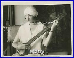 Natacha Rambova Rudolph Valentino's Wife Vintage Photo 1925 Annouce Separation