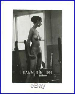 Nude Female Art School Model 8x10 B/w Vintage Print Signed1966