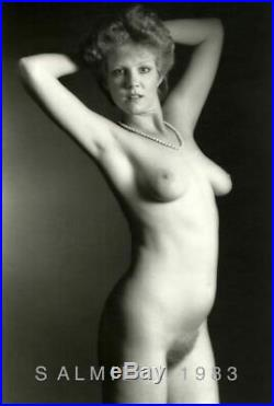 Nude Female Photo 8x10 B&w Gelatin Silver Print