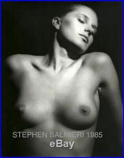 Nude Female Photo 8x10 B&w Vintage Gelatin Silver Print Signed Original 1985